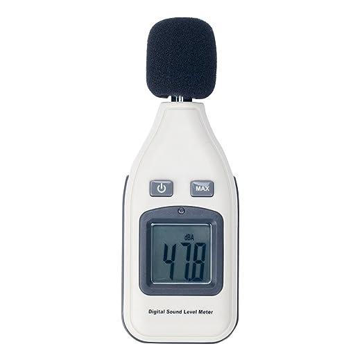 GM1357 Handschallpegelmesser Ger/äuschmesser Misst Schallpegel von 30 bis 130 dB Digital Schallpegelmesser zur /Überwachung des Ger/äuschpegels in Hotels und Konferenzr/äumen A