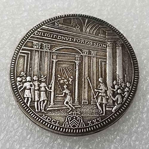 (NiuChong 1675 Rare Antique Italy Old Coin- Italy Uncirculated Old Commemorative Coin - Italian Old Coin-Great Italy Coin-Discover History of Coins Love it)
