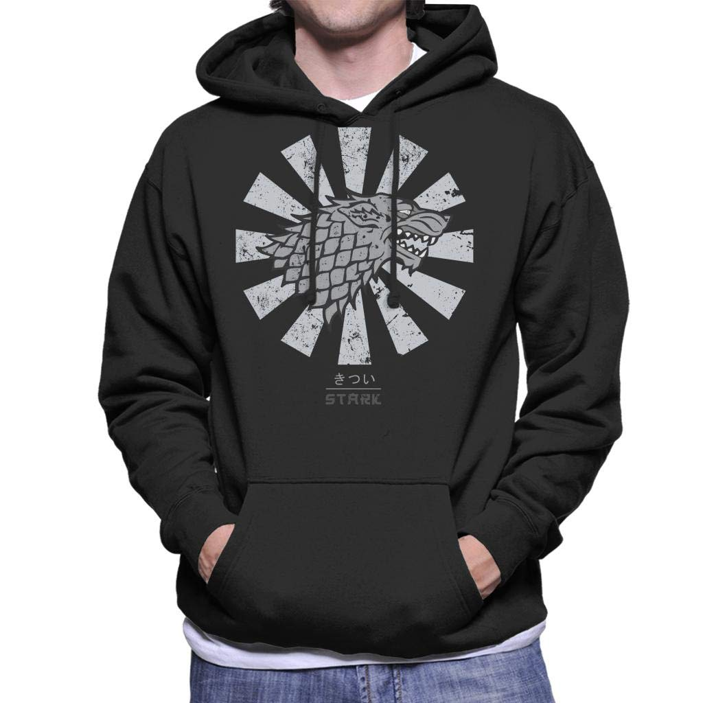 Stark Sigil Retro Japanese Game Game Game of Thrones Men's Hooded Sweatshirt B07N133KJ9 Kapuzenpullover Elegantes Aussehen 3d994e