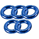 "Fusion Climb Perfect Tension Aluminum O-Ring Small 2"" Blue 25KN 5-Pack"