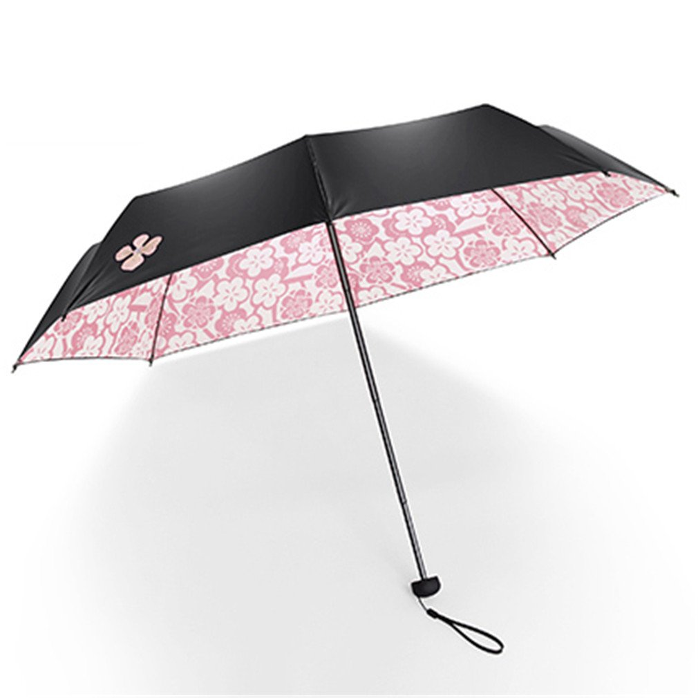 Guoke Sunscreen Uv Protection Umbrellas Umbrellas Vinyl Two Fold Umbrella With A Fine, Pink