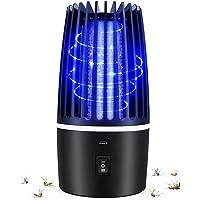 Flagicon Lámpara Antimosquitos Eléctrico, USB Recargable Bug Zapper 2 en 1 Portátil Linterna de Camping LED Luce UV LED…