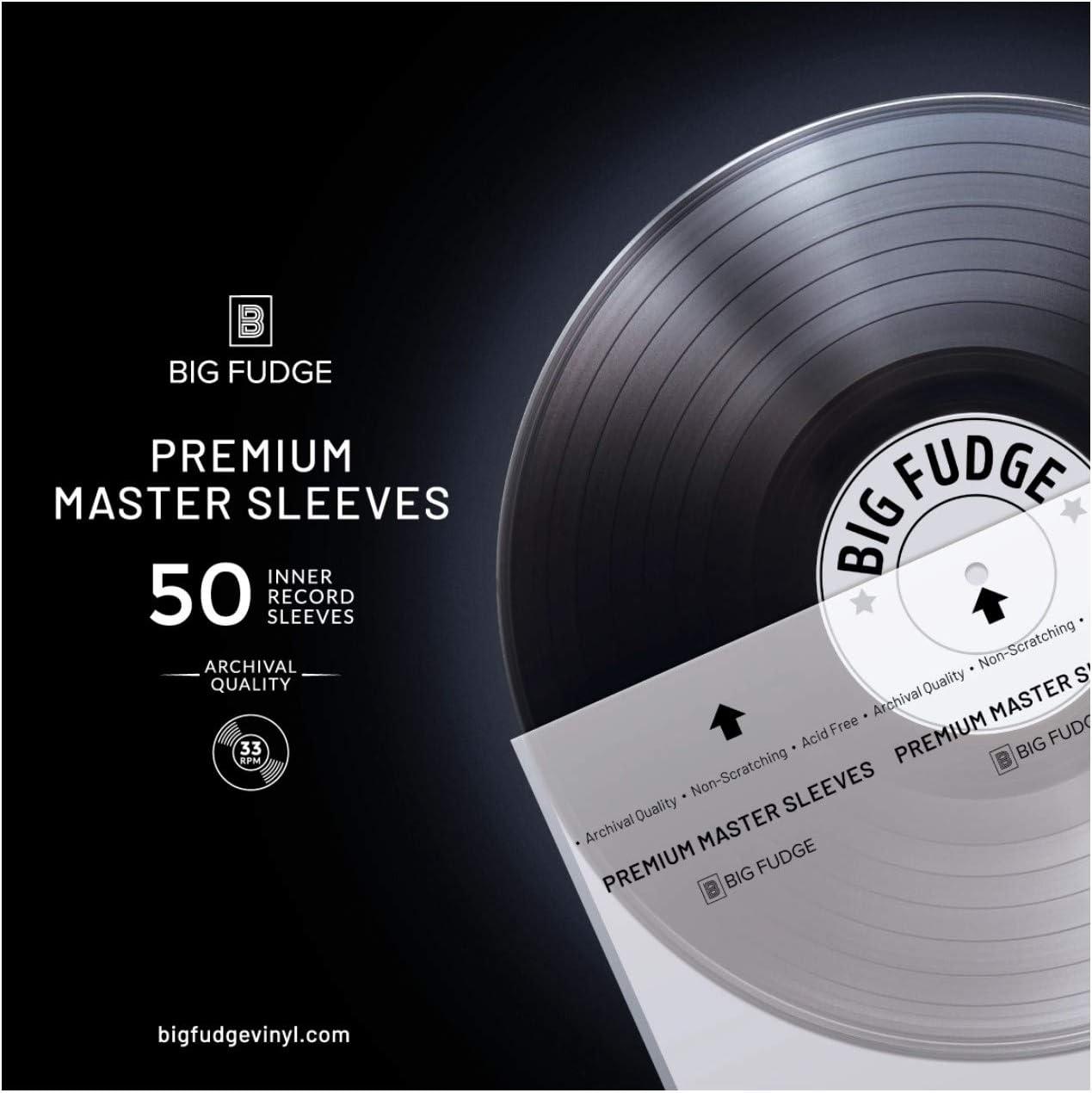 Big Fudge Premium Master Vinyl Record Sleeves - 50x Record Inner Sleeves for 12