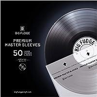 "Big Fudge Premium Master Vinyl Record Sleeves - 50x Record Inner Sleeves for 12"" Vinyl Record Storage. Clear 3-Layer LP…"