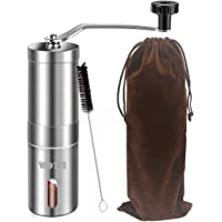 WOT I Stainless Steel Manual Coffee Grinder with Adjustable Ceramic Conical Burr