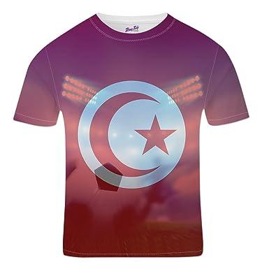 Bang Tidy Clothing Tunisia Football Shirts for Men 2018 Stadium Flag T  Shirt Fans Gift S e56047baf