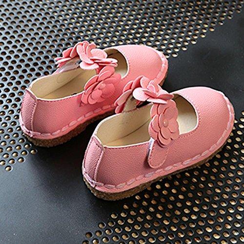 BZLine® Baby-Blumen mädchen turnschuhe kinder weichen Flat Prinzess Schuhe Pink