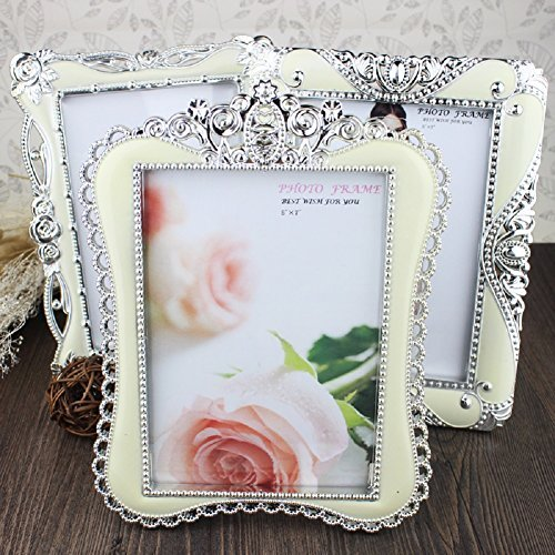 Chicone Vintage Flower Photo Frame with Stand European Style Desktop Picture Frames 5