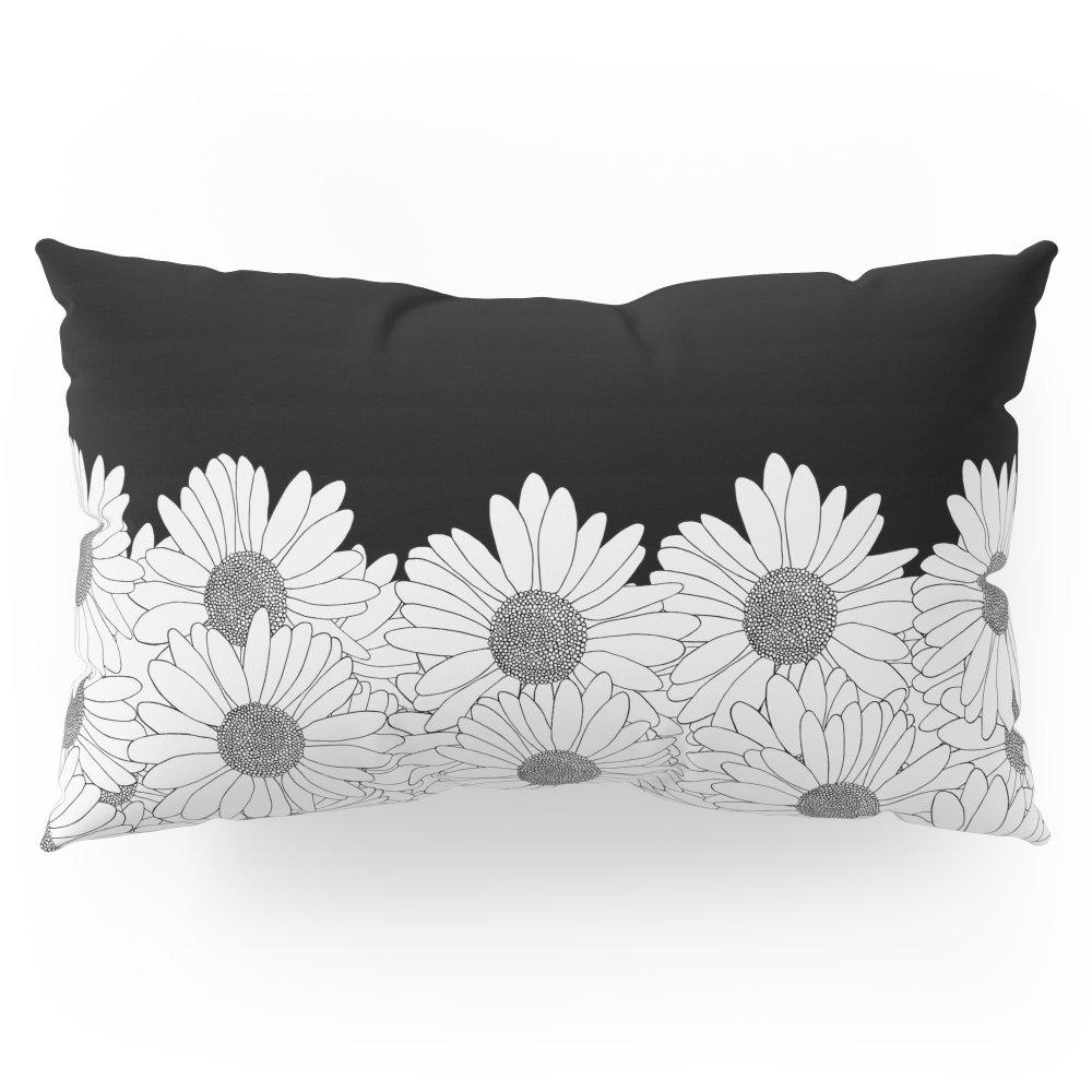 Society6 Daisy Boarder Pillow Sham King (20'' x 36'') Set of 2