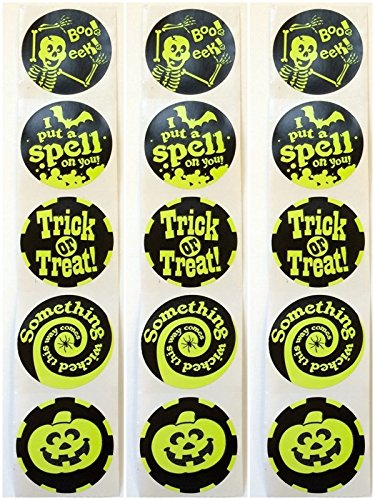 50 Halloween Stickers Party Favors Teacher Supply -