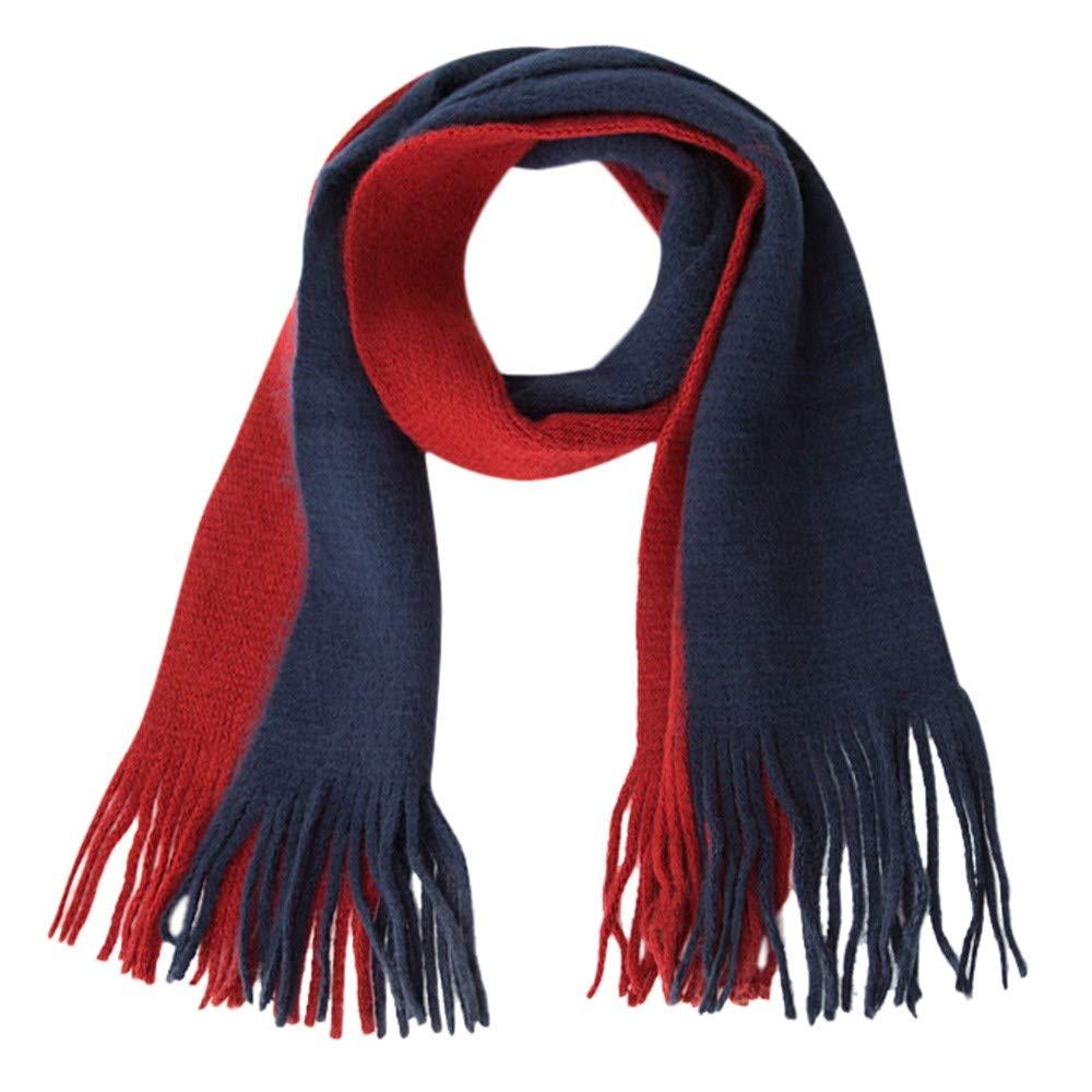 Baby Winter Warm Scarf Clearance- Iuhan Children Kids Boys Girls Knitted Splice Keep Warm Wraps Tassel Scarf (C)