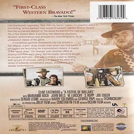 Amazon com: A Fistful of Dollars: Clint Eastwood, Gian Maria