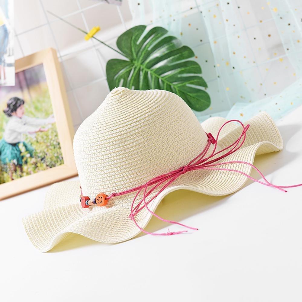 Dixinla Visera Sombrero de Paja Protector Tapa Onda Borde Playa ...