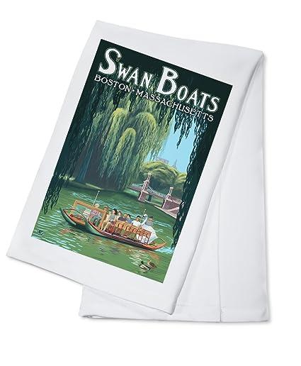 Cisne barcos – Boston, MA (100% algodón absorbente toalla de cocina ()