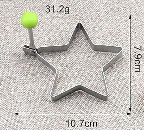 Plsonk - Molde de cocina de acero inoxidable con forma de estrella de cinco puntas: Amazon.es: Hogar