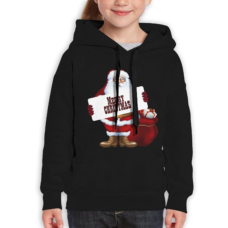 Starcleveland Teenager Pullover Hoodie Sweatshirt Santa Claus Teens Hooded for Boys Girls