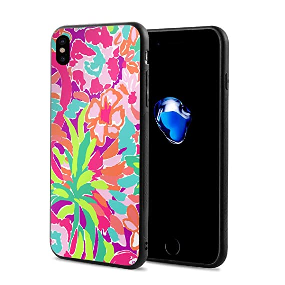 pretty nice 459f1 97595 Amazon.com: iPhone X Case Lilly Pulitzer Color Protective Shockproof ...
