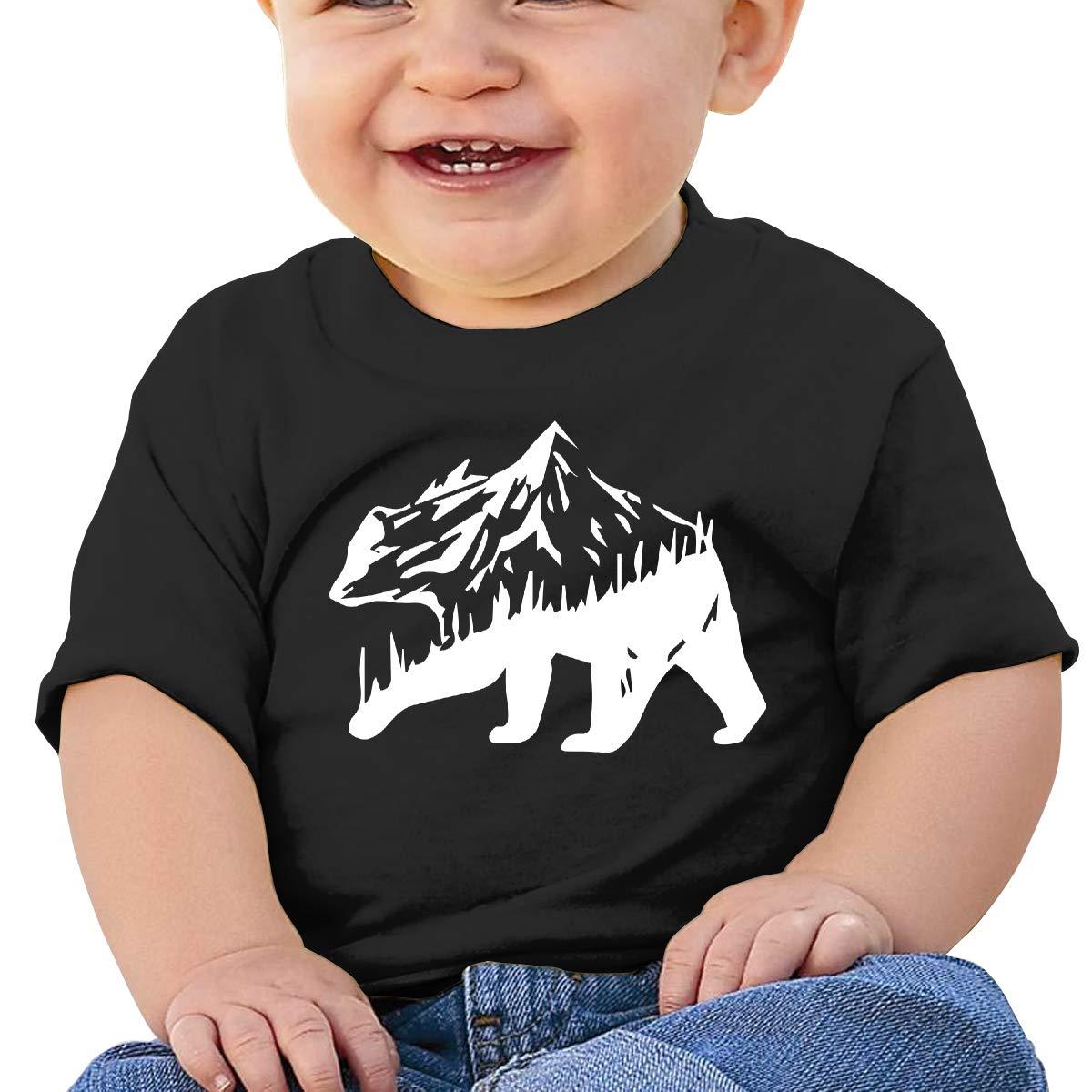 ZUGFGF-S3 Bear Mountain Baby Boy Newborn Short Sleeve T-Shirt 6-24 Month Cotton Tops