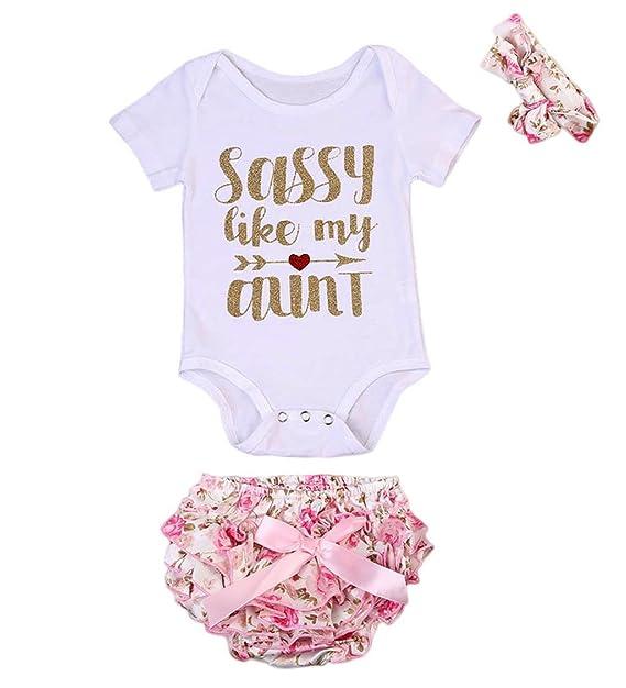 Amazon.com: Bebé recién nacido niñas Pelele de Sassy + ...
