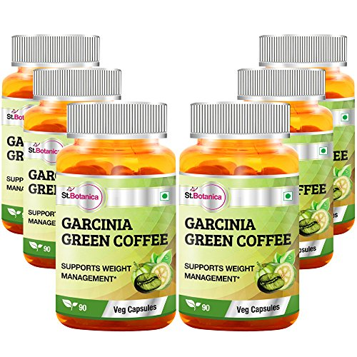 StBotanica Garcinia Green Coffee 500mg Extract – 90 Veg Caps – 6 Bottles