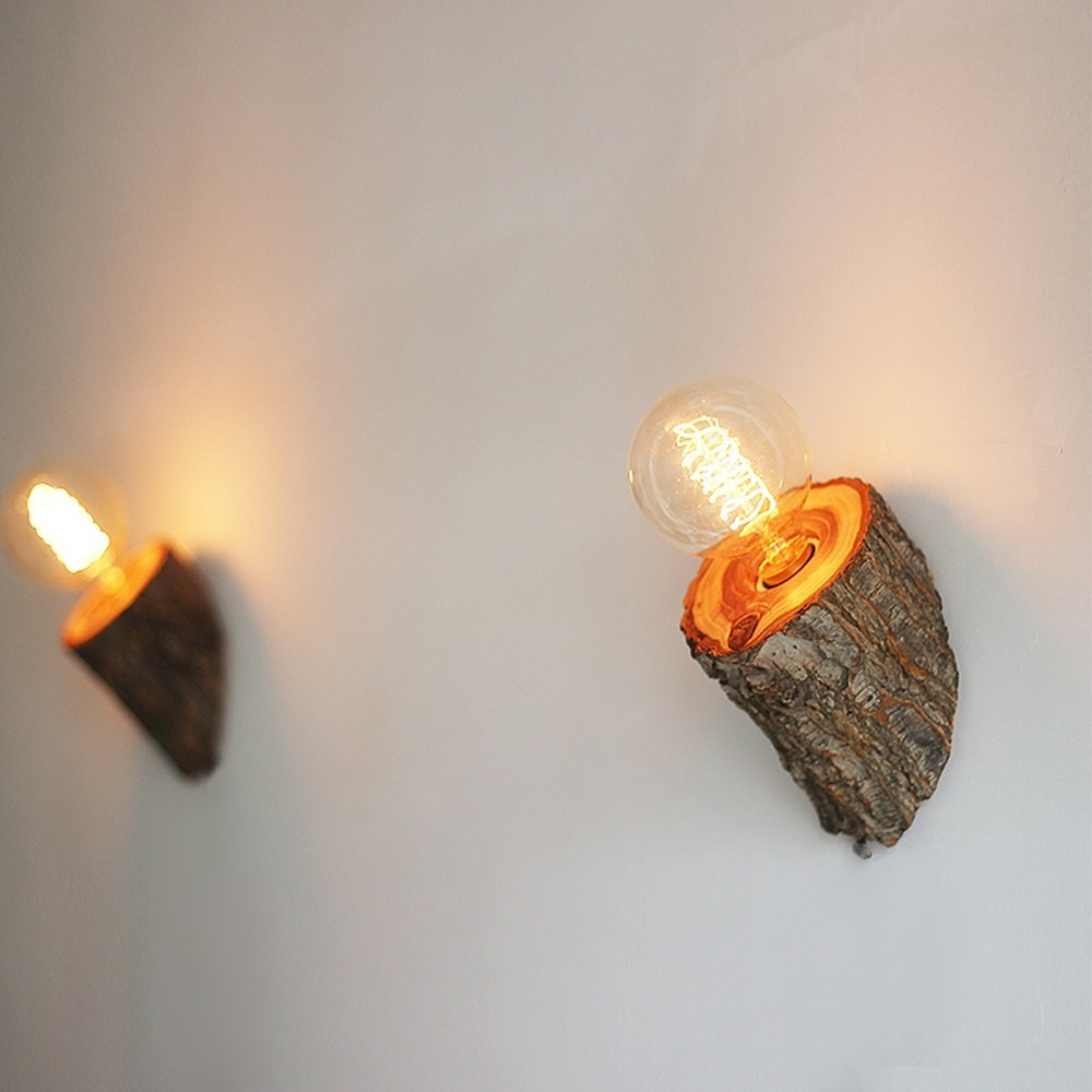Einstellbare versenkbare Wandleuchte, Nordic Leselampe LED Eiche Leselampe Nordic Wand Hängeleuchte Nordic Studio Kinderzimmer Studie Wandleuchte Postmodern Living Room Schlafzimmer Solid Wood Home Wandleuchte bdc997