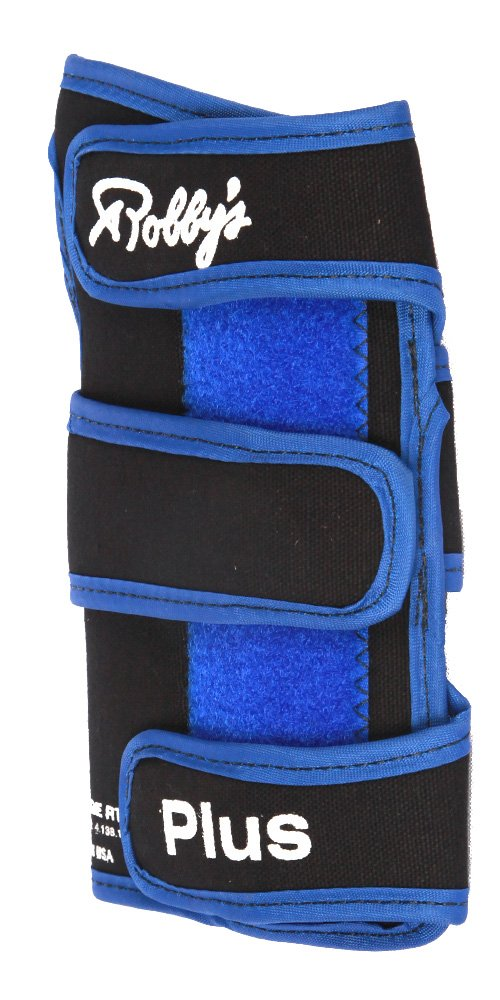 Robby's Coolmax Plus Right Wrist Support, Black/Blue, Large