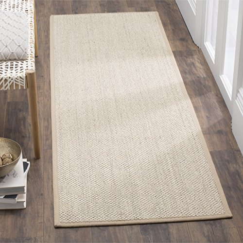 Safavieh Natural Fiber Collection NF143B Marble and Linen Sisal Runner (2'6