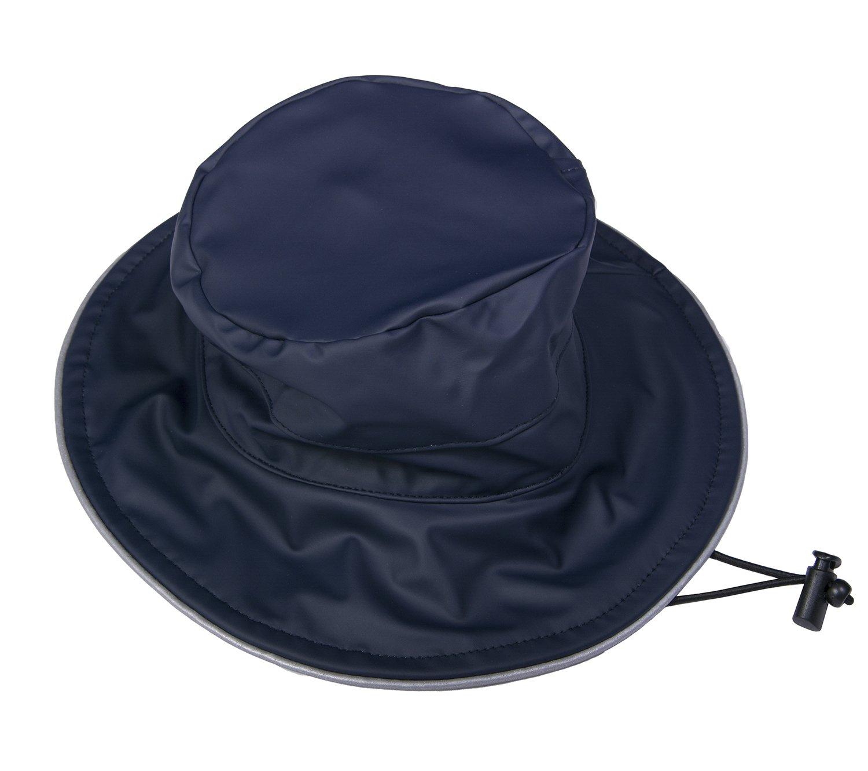 DRY KIDS Childrens Showerproof Hat PU Coated. Boys and Girls Rainwear For Outdoor Play