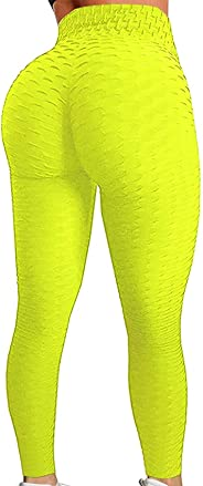 SEASUM Women's High Waist Leggings Ruched Butt Shapewear Tights Yoga Pants