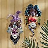 Italian Venetian Art Decor Carnival Masquerades Maidens Wall Mask Sculptures
