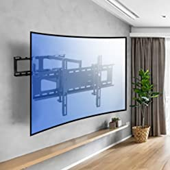 49c50193c45 Sunydeal Curved TV Wall Mount Bracket for Most 30-70 Inch Curved TV and Flat