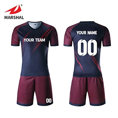 3cc3abdfa Marshal Jersey Custom Soccer Jersey Lastest Design Soccer Uniforms Custom  Jersey Men Trianing Uniforms (S