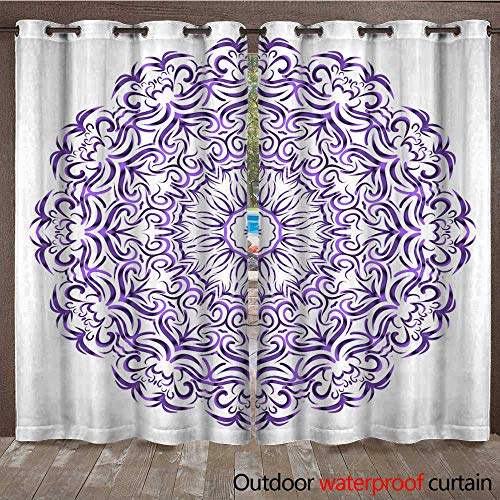 (Home Patio Outdoor Curtain Flower Mandala Printable Package Decorative Elements Coloring Page Template It is Fantastic Vector Illustrations W96 x)