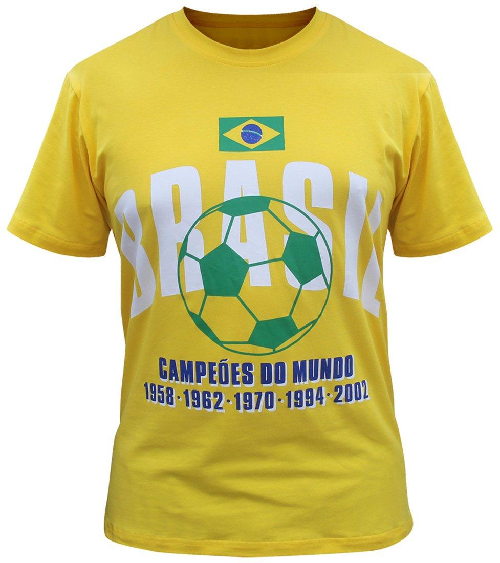 Brazil Camisetas Brasil Jersey de los Hombres (Tamaño:2XL): Amazon.es: Ropa y accesorios