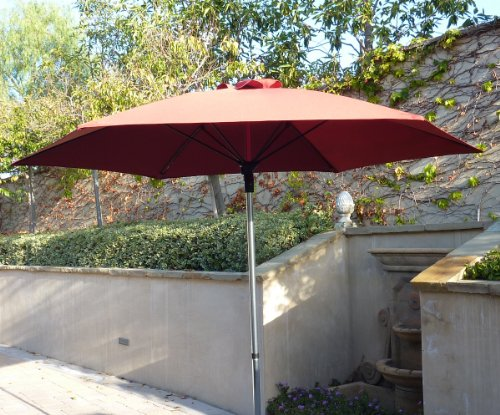 9ft Fiber Glass ribs Market umbrella for Restaurant, Coffee Shop or home