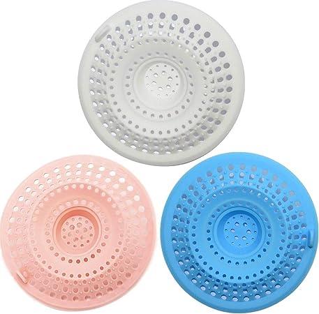 Kitchen Silicone Bath Waste Sink Strainer Filter Net Drain Hair Catcher Stopper