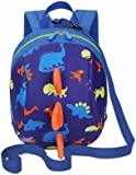 Kids Toddlers Cute Dinosaur Walking Safety Harness Backpack Baby Walker's Bag With Safety Reins Belts Travel Bag Cartoon Nursery School Bag for Baby Boys Girls