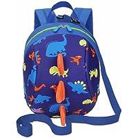 Kids Toddlers Cute Dinosaur Walking Safety Harness Backpack Baby Walker's Bag With Safety Reins Belts Travel Bag Cartoon Nursery School Bag for Baby Boys Girls