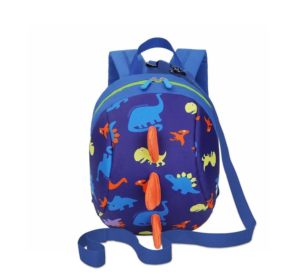 DB Dinosaur Toddler Mini Backpack with Leash, Anti-Lost Children Backpack, Kid snak Cartoon Backpack for Toddler Boys Girls 1-2 Years Old