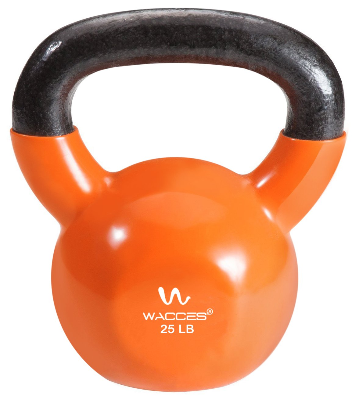 Wacces Single Vinyl Dipped Kettlebell for Croos Training, Home Exercise, Workout