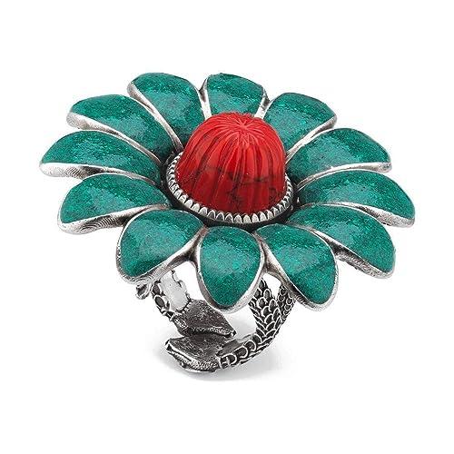4943df174cc Amazon.com  Gucci MARMONT Motif Flower Silver 925 Ring Size 6 3 4 ...
