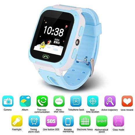 Goglor Teléfono Smartwatch para niños, LBS/GPS Rastreador a ...