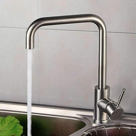 Amazon.com: Grifo de cocina de acero inoxidable comercial ...