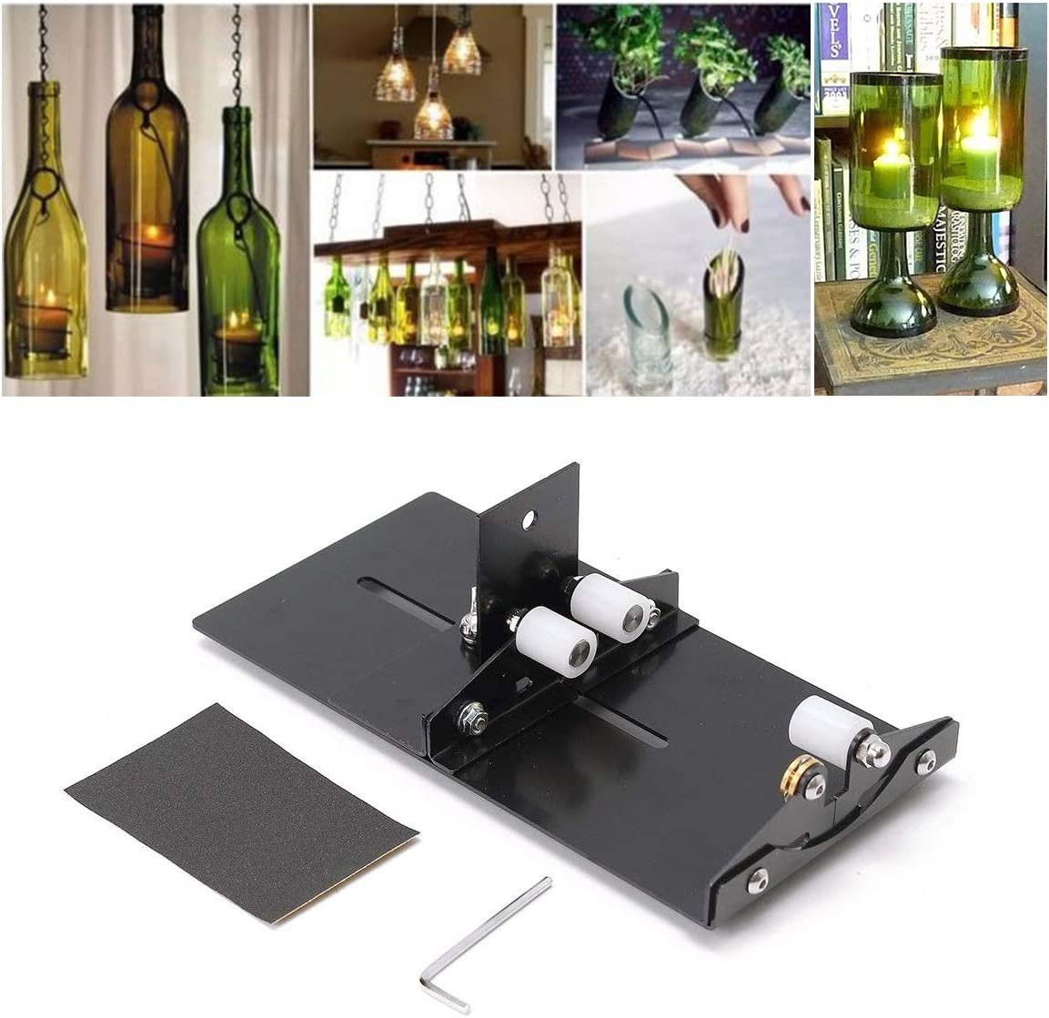 Amazon Com Glass Bottle Cutter Wine Beer Glass Cutter Diy Glass Bottle Cutting Tool Stainless Iron Glass Bottle Cutter Home Kitchen