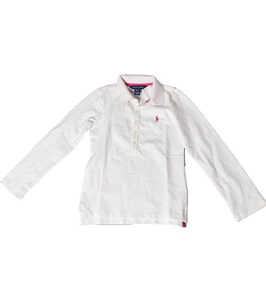 Polo Ralph Lauren - Polo - para niña Blanco blanco 7 años: Amazon ...
