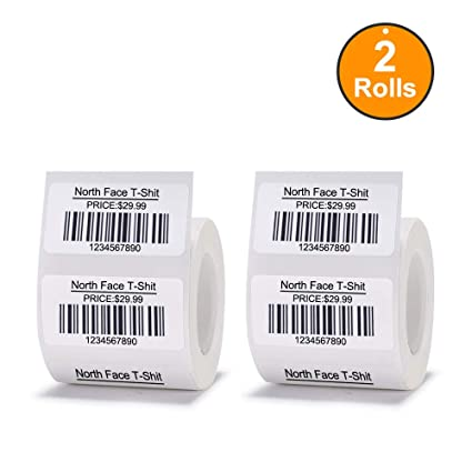 JingChen Multi-Purpose Self-Adhesive Thermal Label Paper for JingChen B11  and B3 Portable Label Printer Roll of 320 Labels 40 x 20 mm (1 6''x0 8''),  2