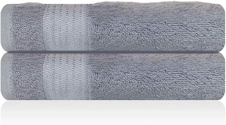 Lazzaro Home - Juego de toallas de mano de algodón egipcio, 2 toallas de mano, color gris, 650 g/m², algodón egípcio, Gris, 2 Hand Towels: Amazon.es: Hogar