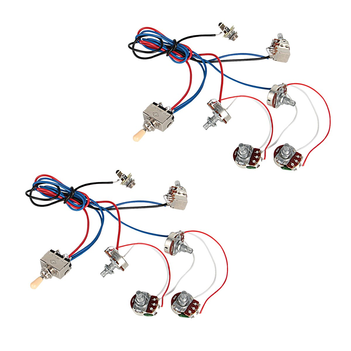 Nice Ibanez Wiring Thin Bulldog Wiring Regular Bulldog Security Wiring Bulldog Car Wiring Diagrams Young 3 Pickup Les Paul Wiring Diagram GreenSecurity Diagram Amazon.com: Kmise Electric Guitar Wiring Harness Kit 2V2T Pot Jack ..