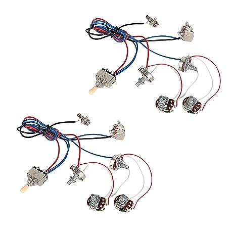 61mEsKIAfEL._SY463_ amazon com kmise electric guitar wiring harness kit 2v2t pot jack 3