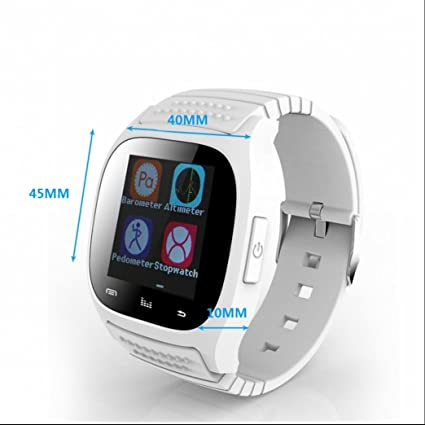 Smart Watch Reloj de pulsera de reloj móvil Actividad podómetro pulsera Bluetooth Pulsómetro Fitness Tracker Reloj